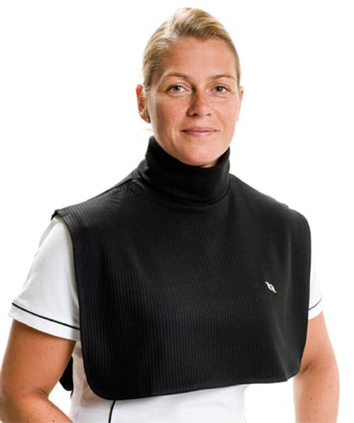 Back on Track Neck Cover with Dickey Bib - Black