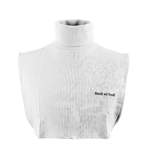 Back on Track Neck Cover with Dickey Bib - White