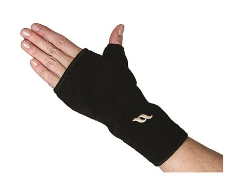 Back on Track Fleece Wrist Brace with Thumb - Black